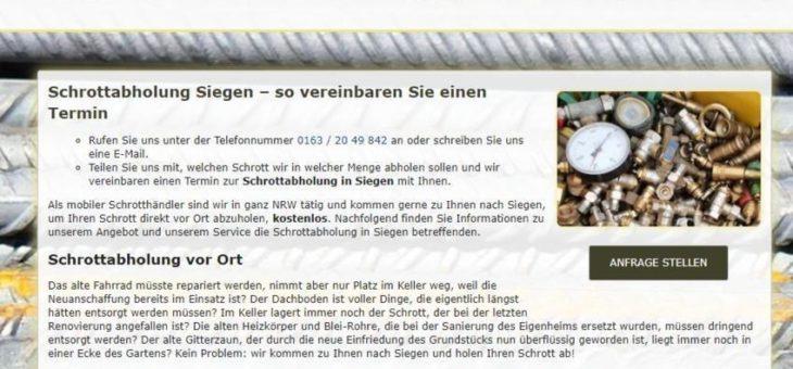 Schrottabholung Siegen (Sonstige Veranstaltung   Siegen)