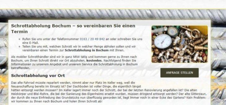 Schrottabholung Bochum (Sonstige Veranstaltung | Online)