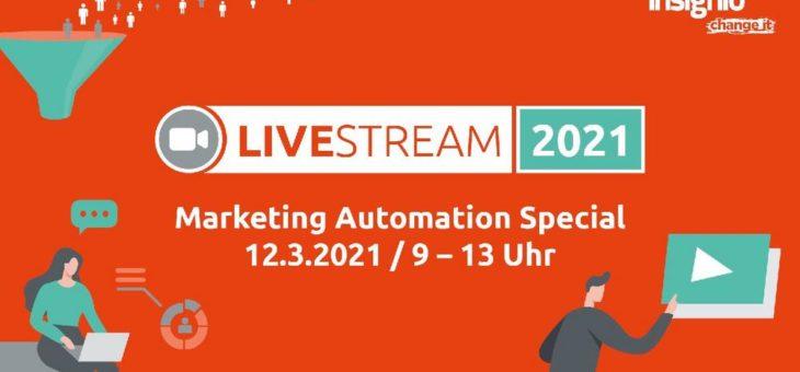 Insignio LiveStream: Marketing Automation Special (Vortrag | Online)