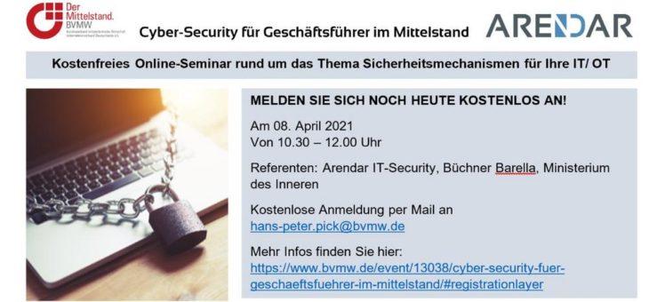 Cyber-Security für Geschäftsführer im Mittelstand (Webinar | Online)
