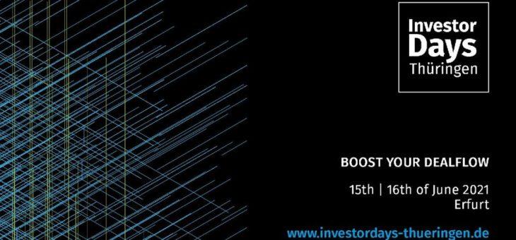 Investor Days Thüringen – Boost your Dealflow (Networking-Veranstaltung | Online)
