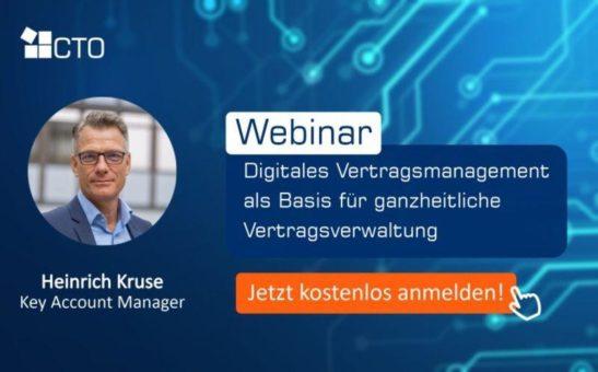 Digitales Vertragsmanagement als Basis für ganzheitliche Vertragsverwaltung (Webinar | Online)