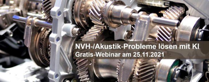 NVH-/Akustik-Probleme lösen mit KI – Gratis-Webinar mit Projektbeispiel am 25.11.2021 (Webinar | Online)